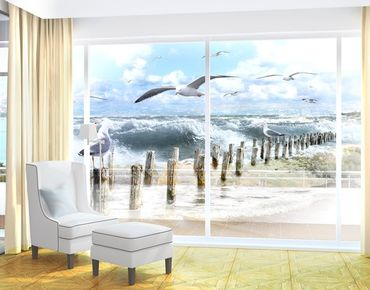 Fensterfolie - XXL Fensterbild No.YK3 Absolut Sylt - Fenster Sichtschutz