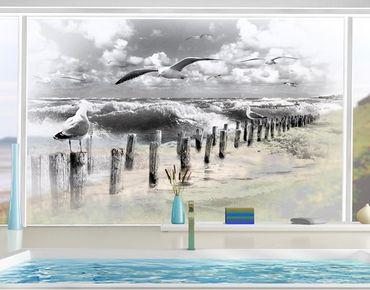Fensterfolie - XXL Fensterbild No.YK3 Absolut Sylt II - Fenster Sichtschutz
