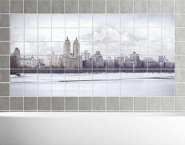 Fliesenbild - No.YK2 New York im Schnee