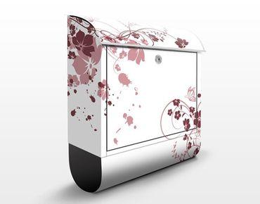 Briefkasten mit Zeitungsfach - Apricot Blossom - Briefkasten Blumen