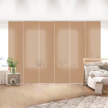 Schiebegardinen Set - Terracotta Taupe - Flächenvorhänge