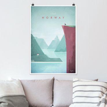 Poster - Reiseposter - Norwegen - Hochformat 3:2
