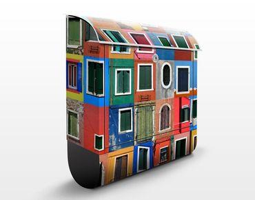 Wandbriefkasten - Fenster der Welt - Briefkasten Bunt