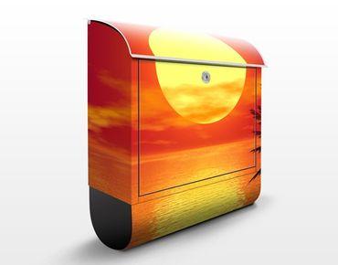 Briefkasten - Karibischer Sonnenuntergang - Hausbriefkasten Orange