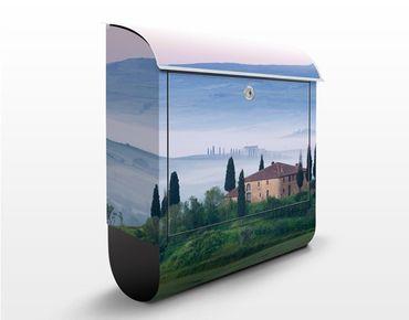 Briefkasten mit Zeitungsfach - Sonnenaufgang in der Toskana - Hausbriefkasten