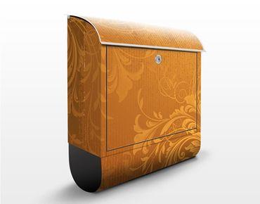 Briefkasten mit Zeitungsfach - Goldene Flora - Wandbriefkasten