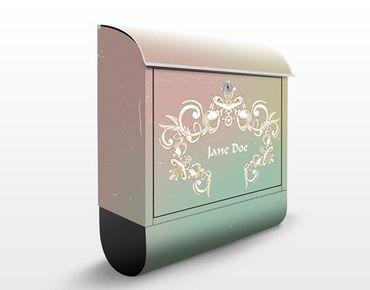 Briefkasten mit Zeitungsfach - No.EK426 Wunschtext Graviertes Ornament