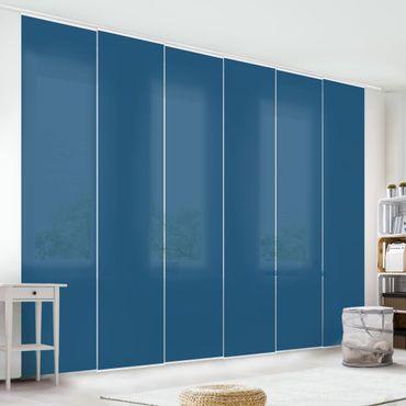 Schiebegardinen Set - Preussisch Blau - Flächenvorhänge