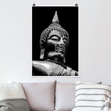 Poster - Buddha Statue Gesicht - Hochformat 3:2
