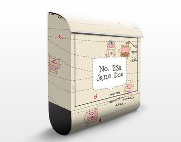 Briefkasten mit eigenem Text & Hausnummer - Flight Owl