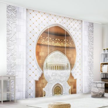 Schiebegardinen Set - Tor der Moschee - Flächenvorhänge