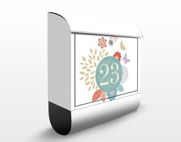 Briefkasten mit eigenem Text & Hausnummer - No.JS307 Wunschtext Rundherum