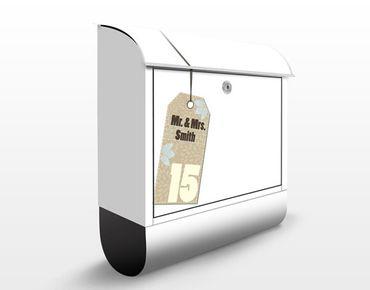 Briefkasten mit eigenem Text & Hausnummer - No.JS308 Wunschtext Etikett