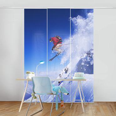 Schiebegardinen Set - Skisprung am Hang - Flächenvorhänge