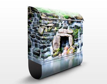 Briefkasten mit Zeitungsfach - Wasserfall - Hausbriefkasten