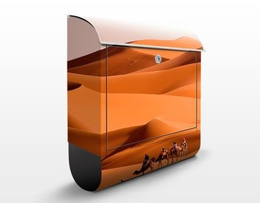 Briefkasten mit Zeitungsfach - Namib Desert - Hausbriefkasten Orange