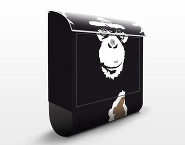 Briefkasten mit Zeitungsfach - No.TA10 Schimpanse - Briefkasten mit Tiermotiv