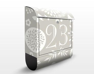 Briefkasten mit eigenem Text & Hausnummer - No.JS304 Wunschtext Gartenidylle