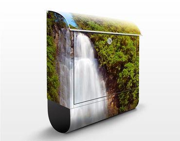 Briefkasten mit Zeitungsfach - Wasserfall Romantik - Hausbriefkasten