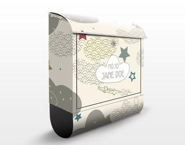 Briefkasten mit eigenem Text & Hausnummer - Sky Crocodile