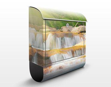 Briefkasten mit Zeitungsfach - Wasserfall Lichtung - Hausbriefkasten