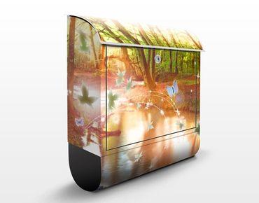 Briefkasten mit Zeitungsfach - No.CG86 Butterfly Wood - Hausbriefkasten