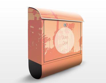 Briefkasten mit Zeitungsfach - No.EK439 Wunschtext Malibu