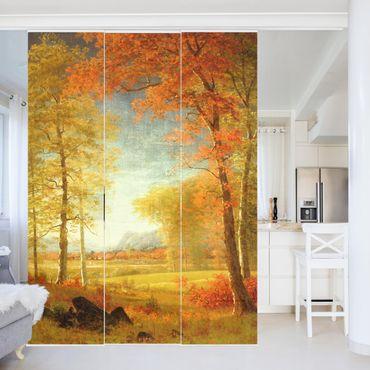 Schiebegardinen Set - Albert Bierstadt - Herbst in Oneida County, New York - 3 Flächenvorhänge