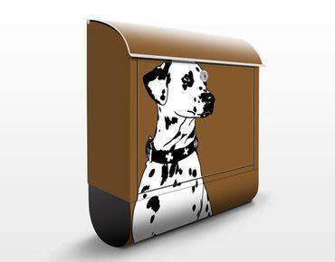 Briefkasten mit Zeitungsfach - No.TA2 Dalmatiner - Briefkasten mit Tiermotiv