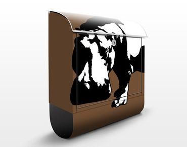 Briefkasten mit Zeitungsfach - No.TA12 Nilpferd - Briefkasten mit Tiermotiv