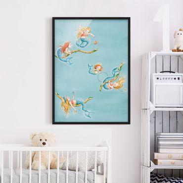 Bild mit Rahmen - Matilda die kleine Meerjungfrau - Seiltänzerin Matilda - Hochformat 3:4