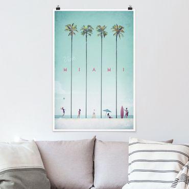Poster - Reiseposter - Miami - Hochformat 3:2
