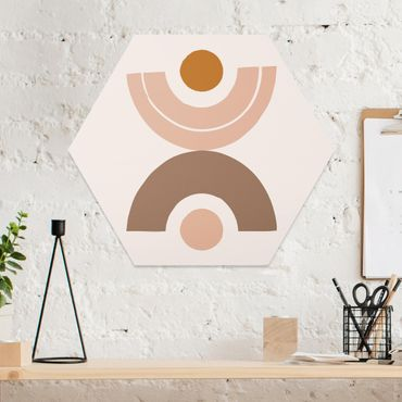 Hexagon Bild Forex - Line Art Abstrakte Formen Pastell