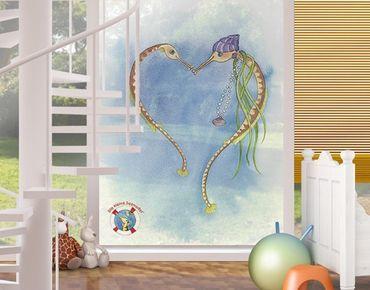 Fensterfolie - Sichtschutz Fenster Die kleine Seenadel© Herz - Fensterbilder