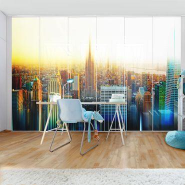 Schiebegardinen Set - Manhattan Abstrakt - Flächenvorhänge