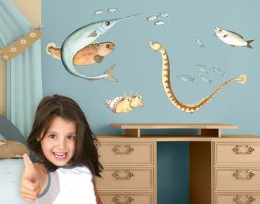 Wandtattoo Fische Die kleine Seenadel© Getümmel Set