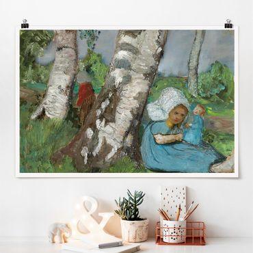 Poster - Paula Modersohn-Becker - Kind mit Puppe - Querformat 2:3