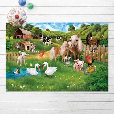 Vinyl-Teppich - Animal Club International - Tiere auf dem Bauernhof - Querformat 3:2