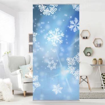 Raumteiler - Snowflakes 250x120cm