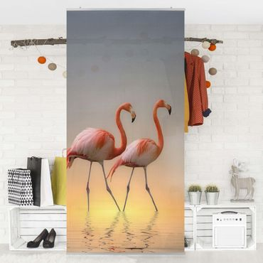 Raumteiler - Flamingo Love 250x120cm