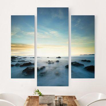 Leinwandbild 3-teilig - Sonnenuntergang über dem Ozean - Galerie Triptychon