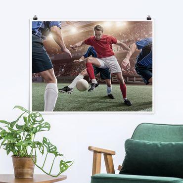 Poster - Fußballrivalen - Querformat 3:4