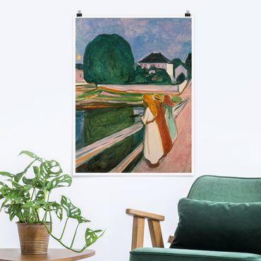 Poster - Edvard Munch - Weiße Nacht - Hochformat 3:4