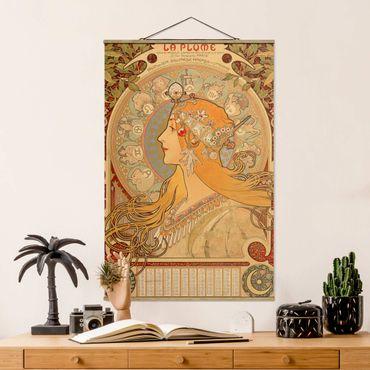 Stoffbild mit Posterleisten - Alfons Mucha - Sternkreiszeichen - Hochformat 2:3
