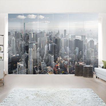 Schiebegardinen Set - Upper Manhattan New York City - 4 Flächenvorhänge