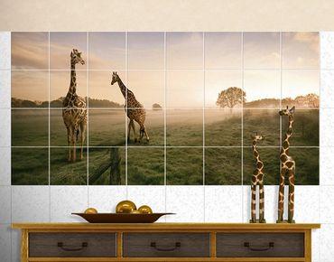 Fliesenbild - Surreal Giraffes