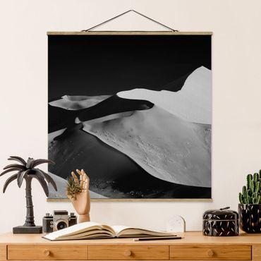 Stoffbild mit Posterleisten - Wüste - Abstrakte Dünen - Quadrat 1:1