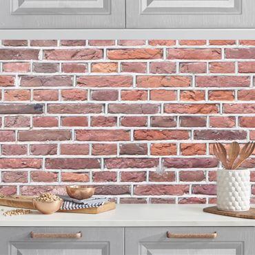 Küchenrückwand - Rote Backstein Mauer