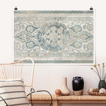 Poster - Holzpaneel Persisch Vintage IV - Querformat 2:3