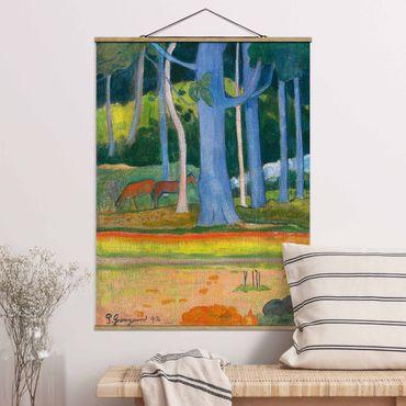 Stoffbild mit Posterleisten - Paul Gauguin - Waldlandschaft - Hochformat 3:4